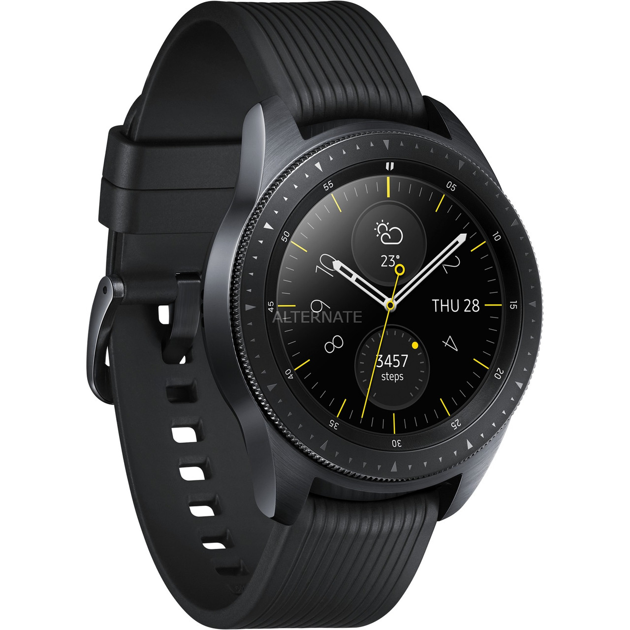 Смарт-часы Samsung Galaxy Watch 42mm LTE Midnight Black (SM-R810NZKA), фото 1