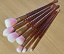 Набор кистей Русалка золото (7 штук), фото 3