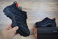 Мужские зимние кроссовки в стиле Merrell ICEBERG MOC черные с оранжевым нейлон. Код: ОД - 3153