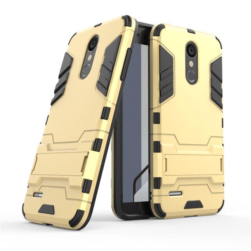 Чехол LG K9 2018 / K8 2018 / LMX210 Hybrid Armored Case золотой