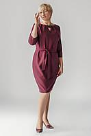 Женское платье с декором на шее.Разные цвета.