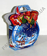 """Новогодняя коробка """"Синий шар"""" на 250 гр."""