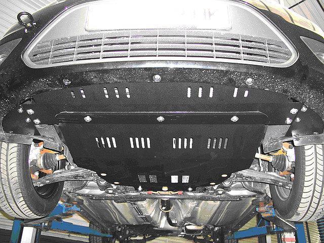 Защита двигателя и КПП на Ниссан Жук (Nissan Juke) 2010 - ... г (металлическая/клепалки)