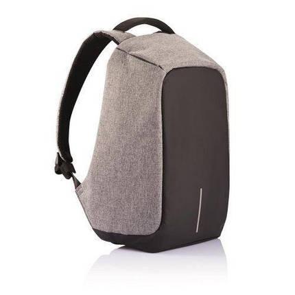 Городской рюкзак антивор с разъемом usb для зарядки гаджетов серого цвета Bobby XD Design Grey USB (Реплика), фото 2