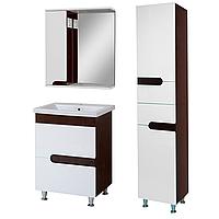 Комплект мебели для ванной комнаты Симпл-Венге 70-30-70-17-40-11 с зеркалом и пеналом ПИК