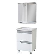 Комплект мебели для ванной комнаты Симпл-Металлик 70-30-70-17 с зеркалом ПИК