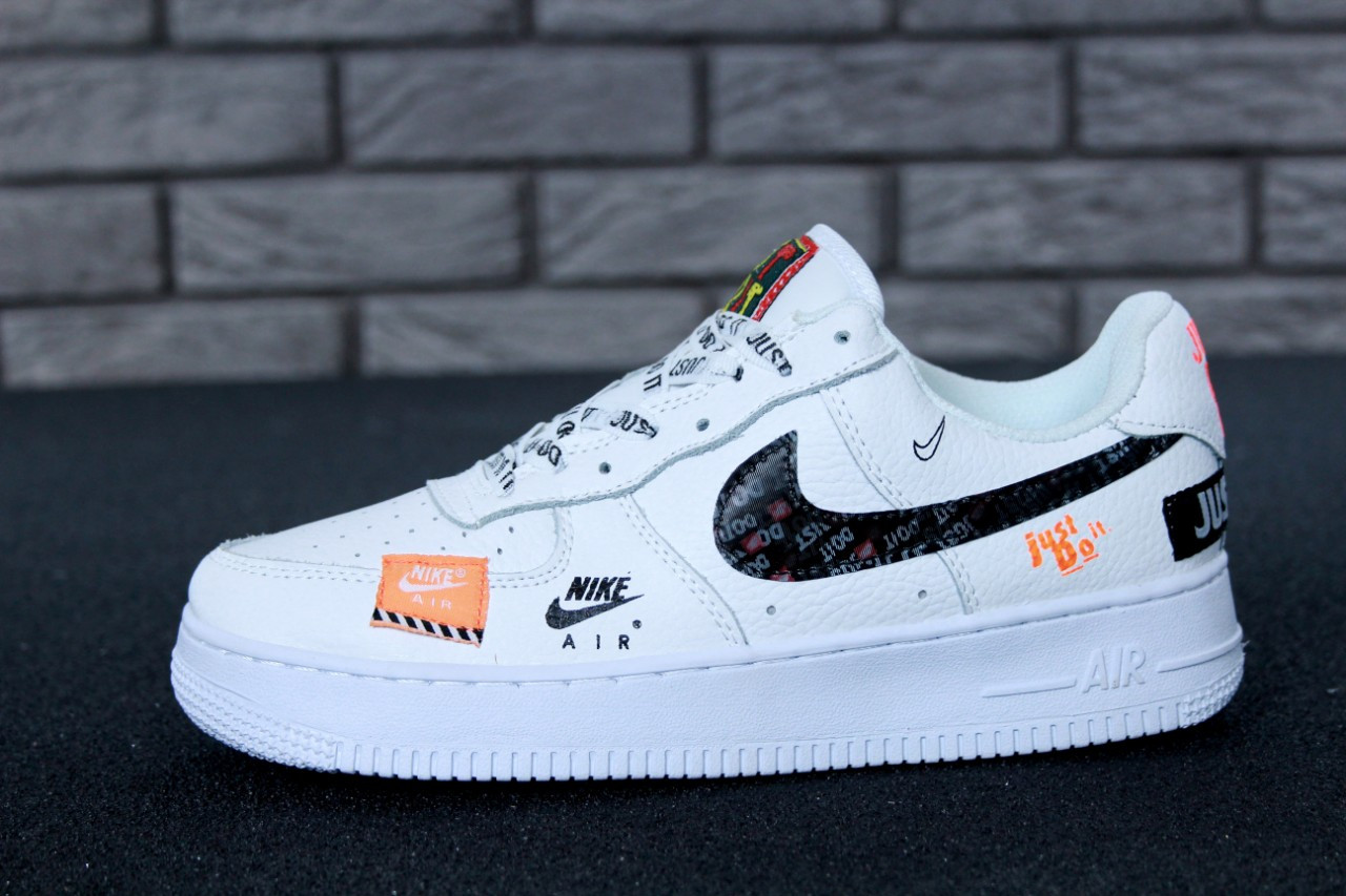 86b1f75077e28b Мужские кроссовки Nike Air Force 1 Low Just Do It Pack White топ реплика -  Интернет