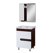 Комплект мебели для ванной комнаты Симпл-Венге 60-30-60-17 с зеркалом ПИК