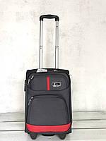 936c4907e6f4 Текстильный чемодан маленький для ручной клади серый на колесах Польша