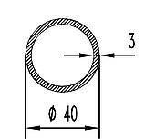 Алюмінієва труба кругла 40мм товщиною стінки 3мм без покриття, фото 2