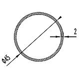 Алюмінієва труба кругла 45мм товщиною стінки 2мм без покриття, фото 2