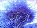 Детский зимний синий-2 комплект: шапка и снуд для мальчика на 1-3 года, фото 4