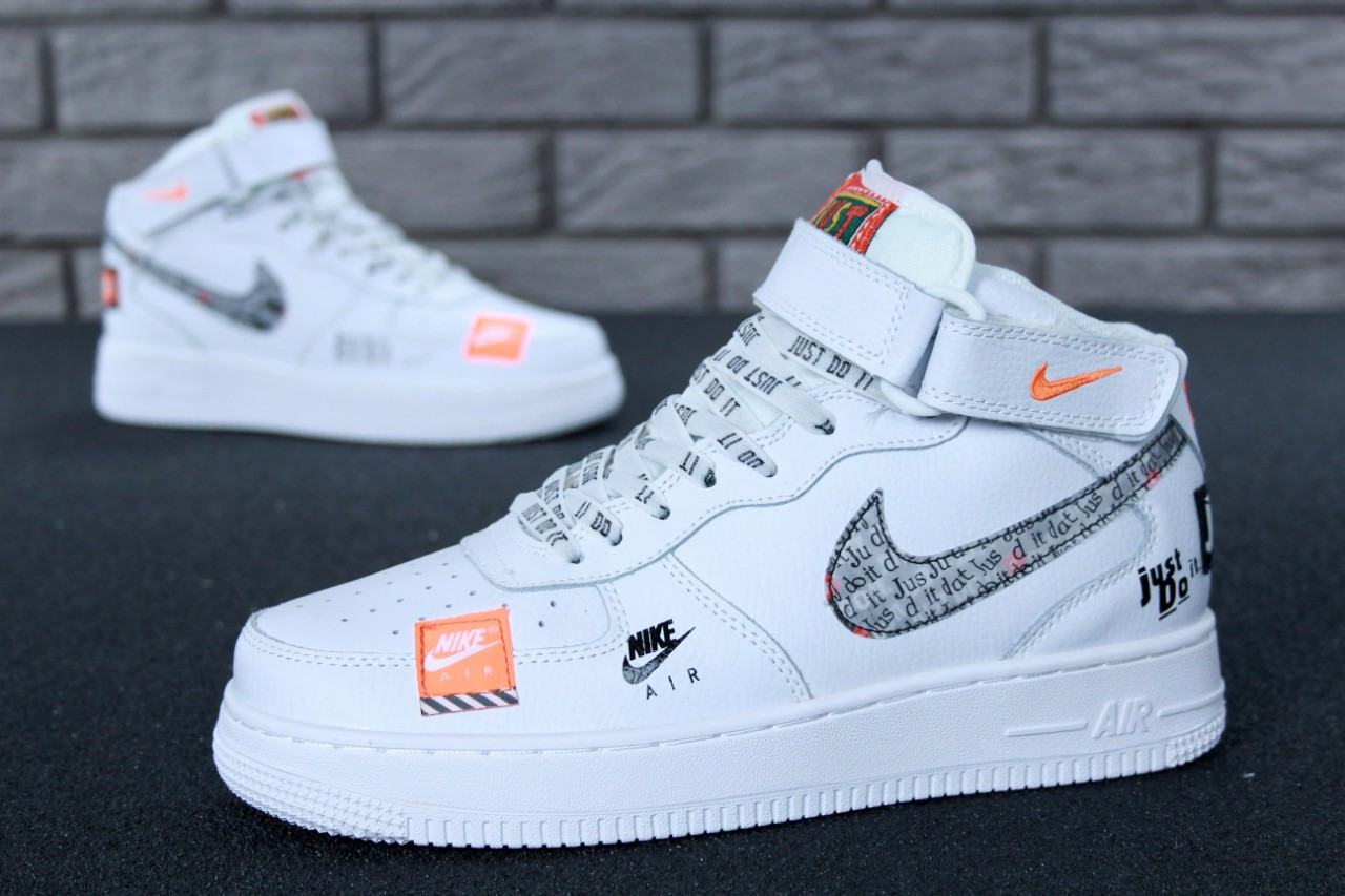 e65f2e71 Мужские кроссовки Nike Air Force 1 Hi Just Do It (ТОП РЕПЛИКА ААА+) ...