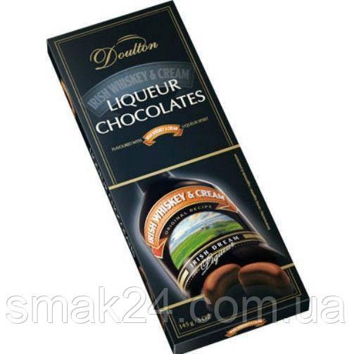 Шоколадные конфеты с ликером Doulton Irish Whiskey &Crem Liqueur (Ирландское виски и сливки) Германия 150г