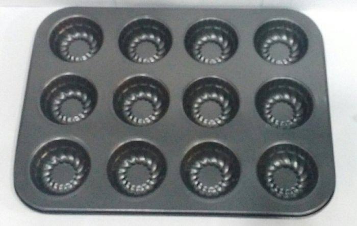 Форма антипригарная для выпечки кексов 12 шт 350*260*30 мм (шт), фото 2