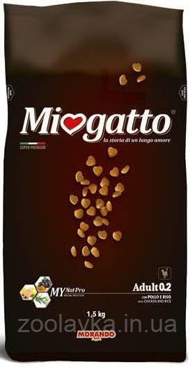 Morando Miogatto Adult 03 Сухой корм для кошек с телятиной и ячменем 1,5кг
