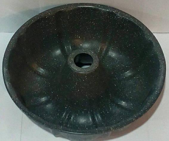 Форма антипригарная кекс с втулкой с гранитовым напылением Ø 250 мм;85 мм (шт), фото 2