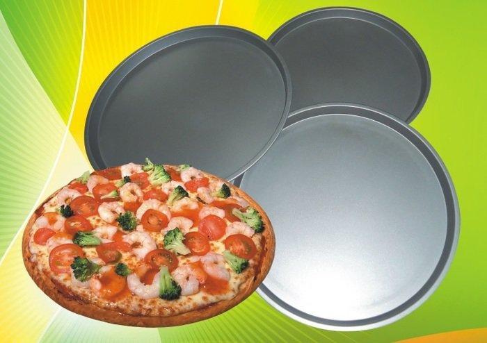 Форма антипригарная круглая для пиццы Ø 310*290*260 мм;H 20 мм(набор 3 шт)