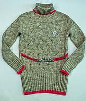 В'язаний светр для дівчинки на 10-13 років, фото 1