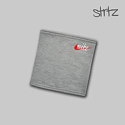 Теплый горловик Nike серого цвета  (люкс копия)