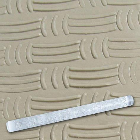 """Скалка текстурная акриловая""""Горизонтальные и вертикальные линии""""L 210 мм (шт), фото 2"""
