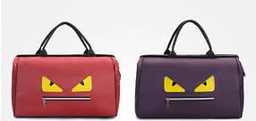 Большая каркасная дорожная спортивная сумка с глазами