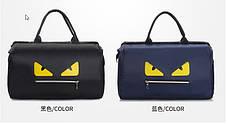 Большая каркасная дорожная спортивная сумка с глазами, фото 3