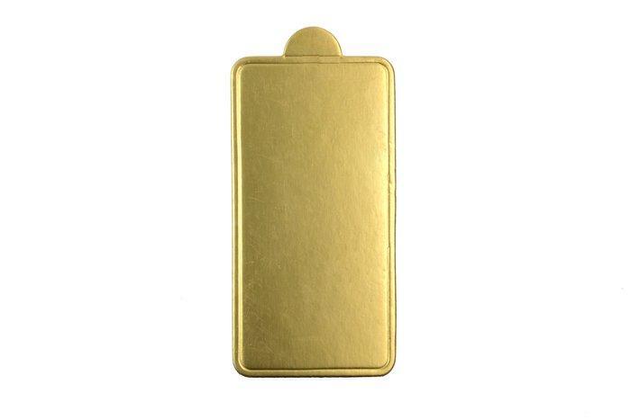 0285 Подложка для пирожное Золотистая  100*70мм (1уп=10шт)