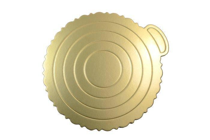 0289 Подложка для Торта Золотистая Ø240мм, фото 2