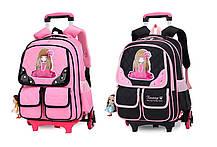 Шикарный рюкзак на колесах с принтом девочки , фото 2