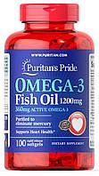 Рыбий жир, Омега Puritans Pride Omega-3 1200mg, 100 softgels