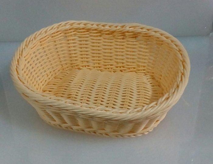 Корзина плетеная пластиковая для хлеба 250*200 мм (шт) 9784E