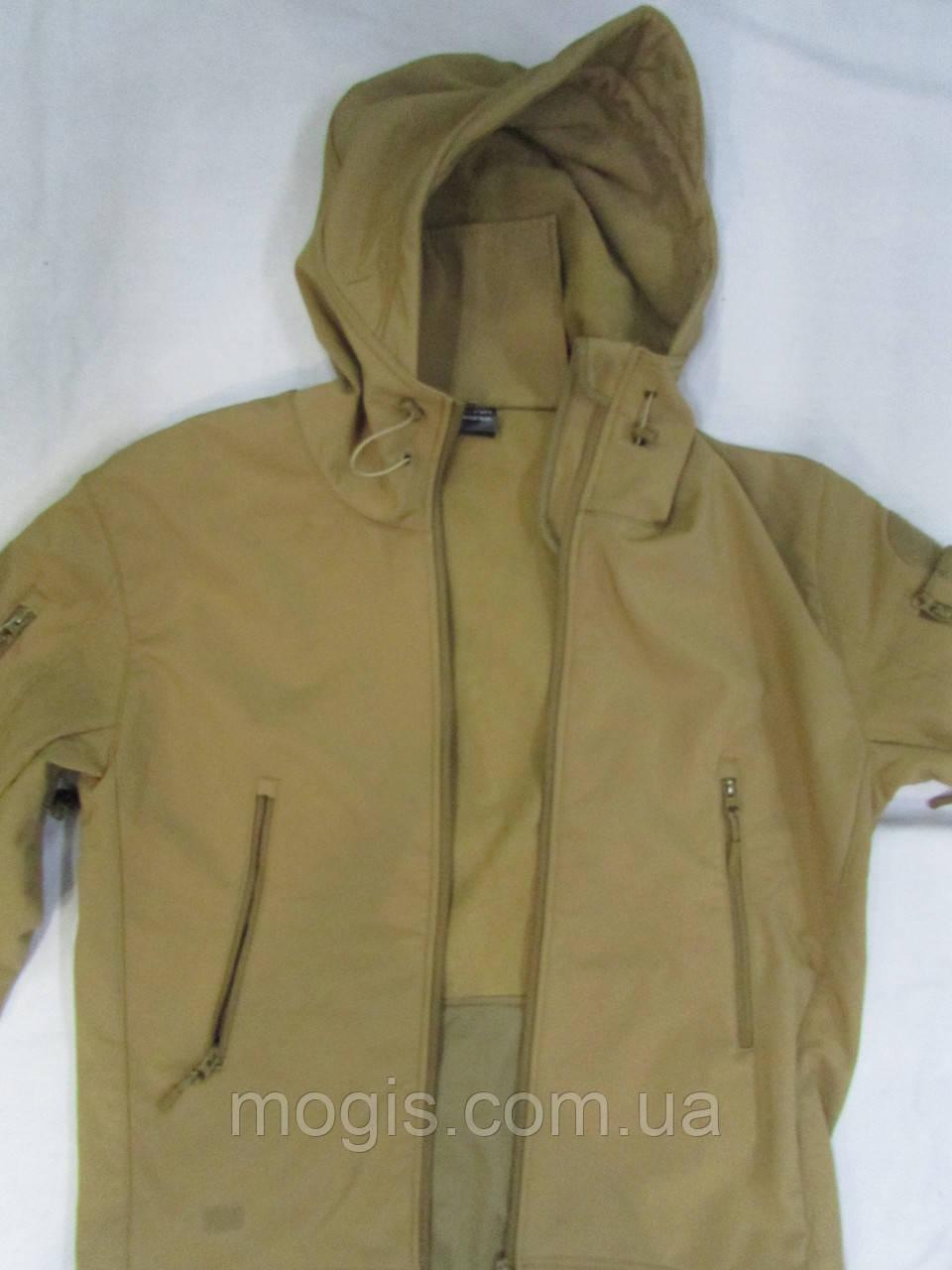"""Куртка ветровка """"milt - 13"""" с цельным капюшоном-кепкой совтшел кайот"""