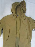 """Куртка ветровка """"milt - 13"""" с цельным капюшоном-кепкой совтшел кайот, фото 1"""