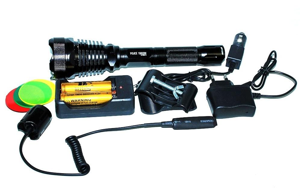 Фонарик тактический Police BL - Q 2800 (охотничий)