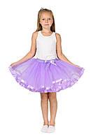 Фатиновая юбка - сиреневая