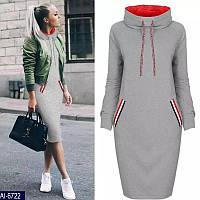Теплое платье-туника батал в Украине. Сравнить цены 0eaef764ab89a