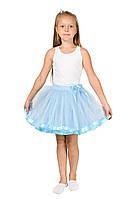 Фатиновая юбка - голубая