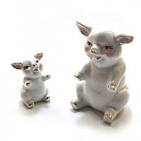Парные статуетки / фигурки Свинки Фарфоровые Символ 2019 года