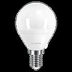 LED лампа GLOBAL G45 F 5W яркий свет E14 (1-GBL-144), фото 2