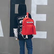 Модный тканевый рюкзак Fashion line с пеналом, фото 3