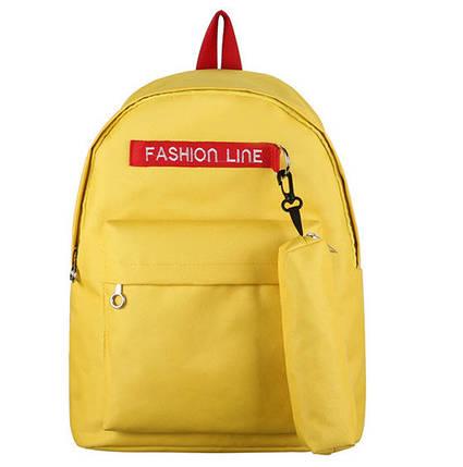 Модный тканевый рюкзак Fashion line с пеналом, фото 2