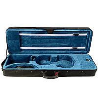 Кофр для скрипки размер 4/4 бархат морская волна