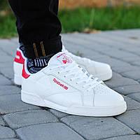 Мужские кроссовки Rееbok Classic Npc Li White Red (ТОП РЕПЛИКА ААА+)