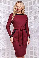 Очень теплое и красивое платье из плотной ангоры летучая мышь 44-52 размера марсаловое