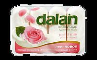 Мыло туалетное Dalan Milky 4*90г. Молоко и Роза (экопак)