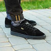 Мужские кроссовки Puma Suede Black(ТОП РЕПЛИКА ААА+)