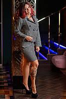 Брендовый элегантный женский костюм Юбка и Пиджак 3878