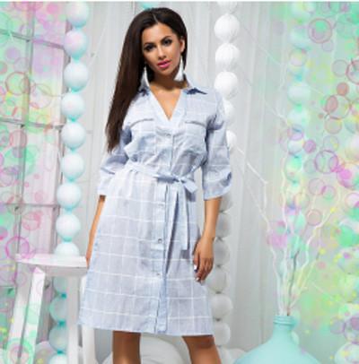 5c2c75a3d34 Купить Модное платье-рубашка из льна 822359 Украина