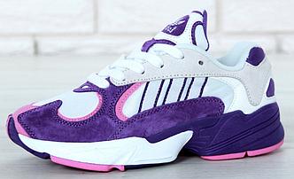 Женские кроссовки Adidas Yung 1 Purple, Адидас Янг Фиолетовые